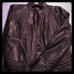 Armani Exchange Leather Look Jacket